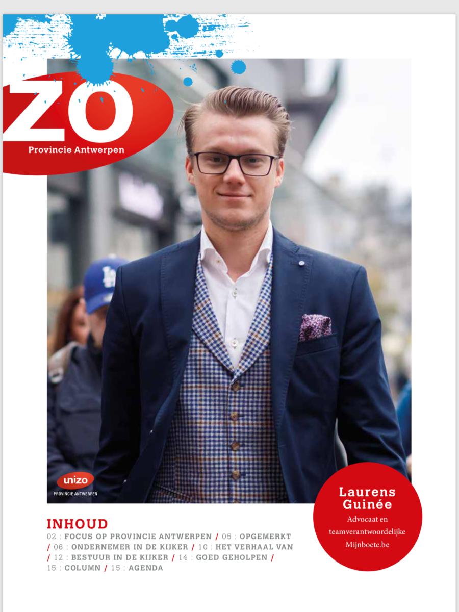 Mijnboete in UNIZO-magazine